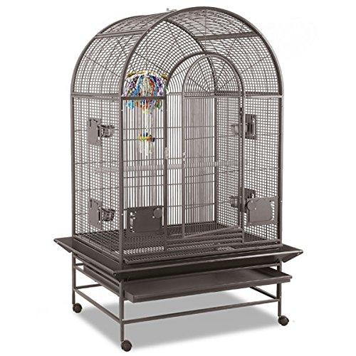 Montana Cages ® | Vogelkäfig, Sittichkäfig, Käfig für Finken, Kanarien und Sittiche Miami Voliere in Hammerschlag antik
