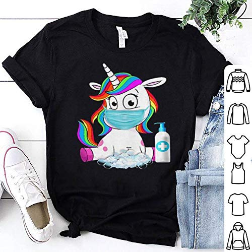 Unicorn Face Mask Wash Hands Survived Coronavirus Shirt, Hoodie, Sweatshirt For Mens Womens Ladies Kids.