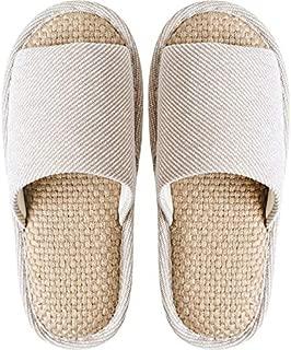 JERPOZ Zapatillas De Interior Zapatillas Antideslizantes De Primavera Y Verano Material De Algodón Y Lino Zapatillas De Casa Transpirables Que Absorben El Sudor Sandalias Zapatillas de algodón