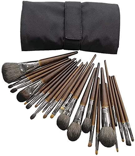 TOPNIU Tablier de Maquillage Professionnel, 24 pcs Professionnel Premium Synthetic Feuille de Fibre Bionique Feuille de Feuilles de la Fondatrices de la Poudre de Maquillage des Ombres à paupières