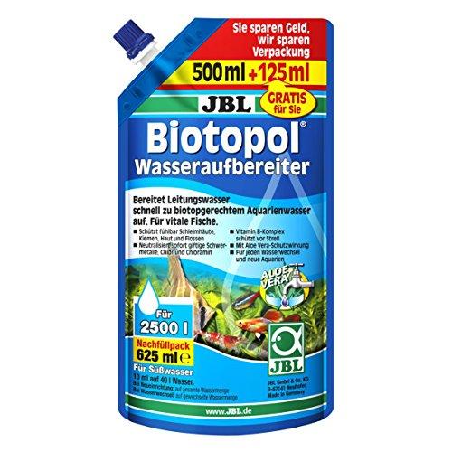 JBL Purificador de agua Biotopol para acuarios de agua dulce, 500ml + 125 ml