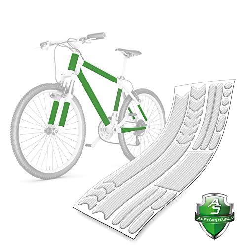 AlphaShield - Juego de Protectores de Pintura para Bicicleta, 21 Piezas, Transparente