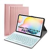Upworld Funda con teclado retroiluminado para Samsung Galaxy Tab S6 Lite de 10,4 Tablet 2020 (SMP610/P615) 7 colores luz desmontable teclado inalámbrico con cubierta de PU para Samsung Tab S6 Lite10.4