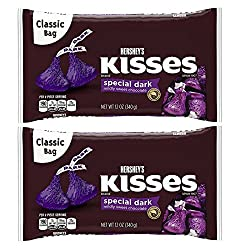 Hershey's Kisses Special Dark Chocolate 12 oz ( 2 PACK)