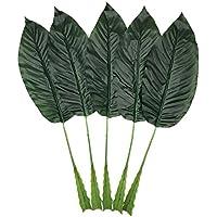 Warmter 5 hojas tropicales, hojas de plátano artificiales falsas para decoración del hogar, cocina, fiesta