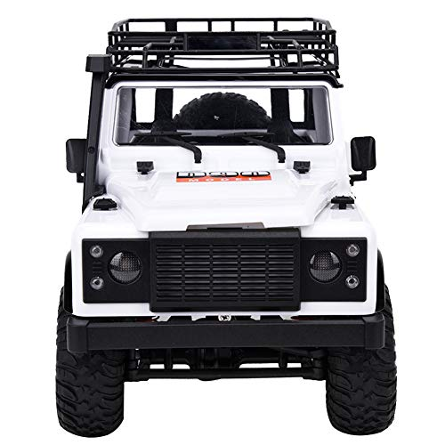Wxlxj RC Car Mn-99 2.4g 1/12 4wd Crawn Control Remoto Control RTR RC Car Ajuste para Land Rover Mini RC Car (Blanco)