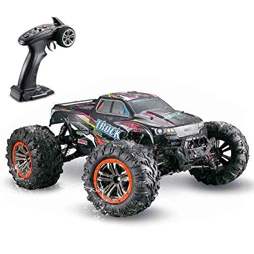 HUIGE Coche De Control Remoto, 2.4Ghz 1:10 Off Road RC Racing Car Camión Impermeable 46Km / H Juguete De Monstruo Eléctrico De Alta Velocidad para Niños, Adolescentes, Adultos