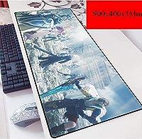 ゲーミングマウスマットラージマウスマットラージサイズのゲーミングマウスパッド、快適な非スリップ天然ゴムマット (Color : C)