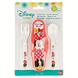 ESTUCHE CON 2 CUBIERTOS MINNIE MOUSE - DISNEY - COLOR BOWS