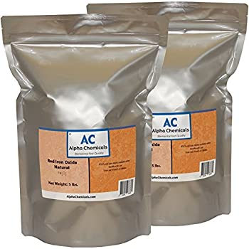Red Iron Oxide - Fe2O3 - Natural - 10 Pounds -  2-5 lb Bags