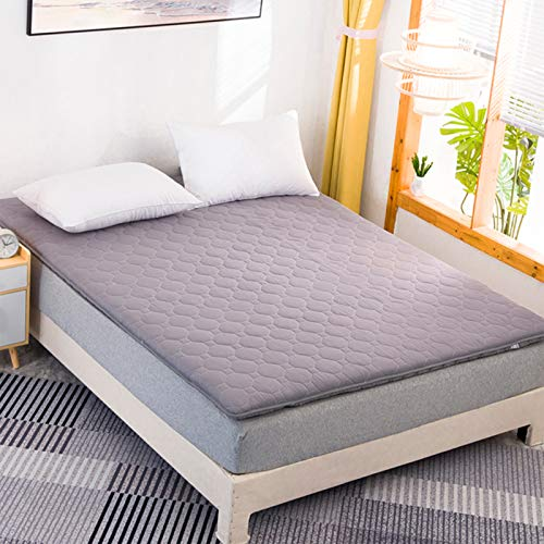 MYYU Tatami Mattress, Folding Mattress Futon Beds, Student Dormitory Single/Double Bed Mattress for School/Bedroom/Living Room/Floor, 3.5Cm Thickness,Gray,90x200cm