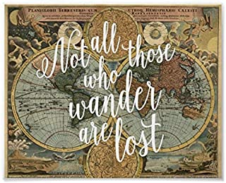 Lplpol Canvas Not All Those Who Wander are Lost Quote Print Wall Painting Modern Home Decor 20 x 30 cm