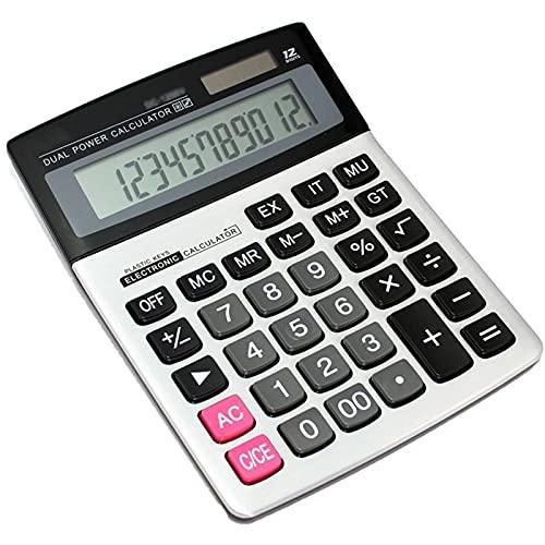Calculadoras Función estándar Calculadoras de escritorio electrónica científica, potencia dual, botón grande de...