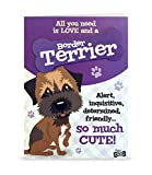 Wags and Whiskers Personable Funny WagsWhickers Card - Border Terrier, Multi (204020005)