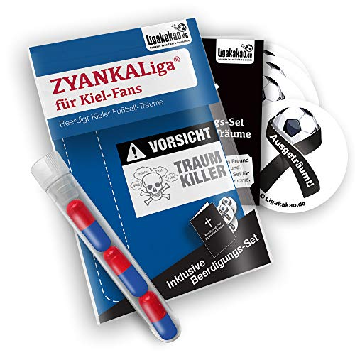 Kiel Home Trikot ist jetzt ZYANKALIGA für KSV Fans by Ligakakao.de Puma Herren Home Shirt Replica mit Logo blau-rot
