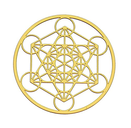 Astrogems Metatron's Cube 18K Gold Plated Sacred Geometry 4' Grid