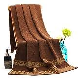 WSZMD Toalla Suave Toallas Set De Baño For Adultos Toalla De Playa Toallas Absorbentes De Baño Toallas De Baño Hojas Utensilios del Baño (Color : 01 Coffee)
