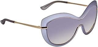 Ferragamo Grey Shield Ladies Sunglasses SF759S45656