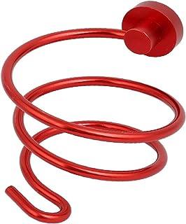 NEW LON0167 Aluminium Alloy Red Wall Mounted Hair Dryer Holder w Plug Hanging Hook(Aluminiumlegierungs-roter an der Wand b...