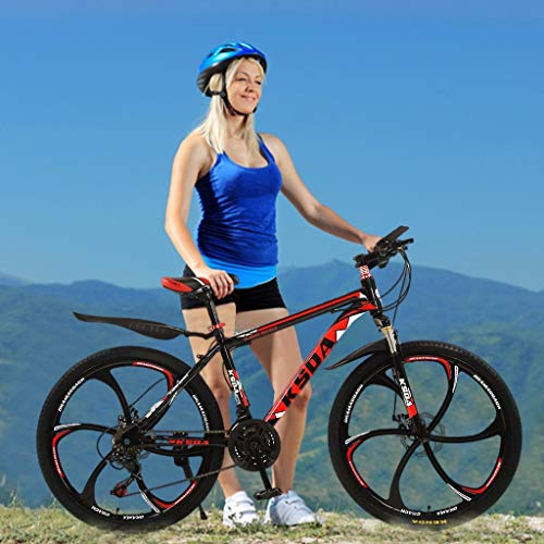 CCTO 26in Folding Mountain Bike 21 Speed Bicycle Full Suspension MTB Bikes,Men and Women's Outdoor Cycling(Shipped from US Warehouse)