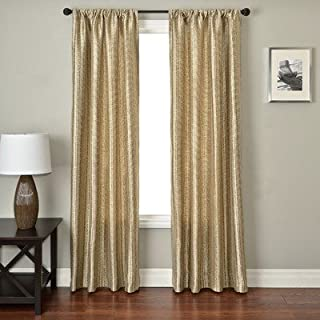 Softline Home Fashions CAVBpeb84RP Ariel Batik Single Curtain Panel Pebble
