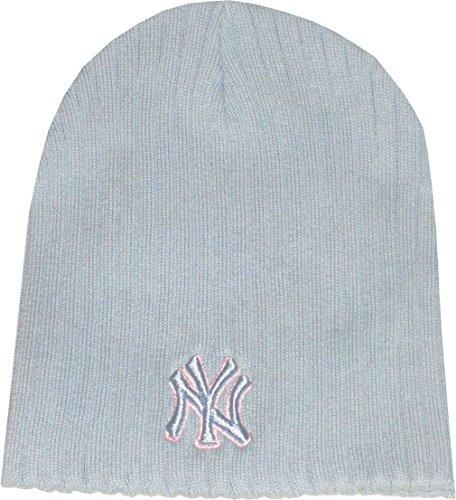 NEW ERA leightw Eight Bonnet Laine Bonnet N.Y. Logo Major League Baseball Bleu clair 100% coton Taille unique taille unique