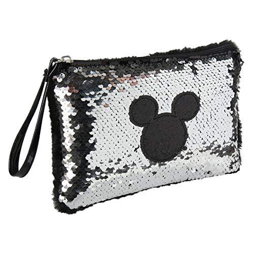 Mickey Mouse 2100002666, Neceser Infantil 72666 Bicolor Unisex niños, Plateado-Negro, Talla única