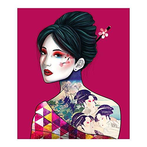 cooldeerydm Japanse Geisha diamant schilderij portret dames rond diamant 5D DIY mozaïek borduurwerk kruissteek decoratie huisgeschenk