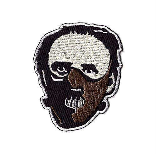 Dr Hannibal Lecter Masken-Aufnäher, bestickt, Abzeichen, Silence of the Lambs, Roter Drache, Horror-Film, Kostüm, Souvenir