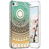 Compatible avec iPhone 5C Coque en Silicone Transparente Motif Mandala Fleur Jolie Housse de...