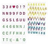 kwmobile Einschubplättchen Set A5 Lichtbox - 126 bunte Plättchen Buchstaben Zahlen Symbole...