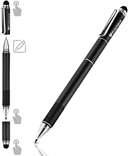 Frishare Stylus Pens for Touch Screens, Universal Capacitive Stylus Pen with Ballpoint Pen Disc Fiber Mesh Tip, Writing and Drawing stylus for iPad, Tablets, iPhone - Black