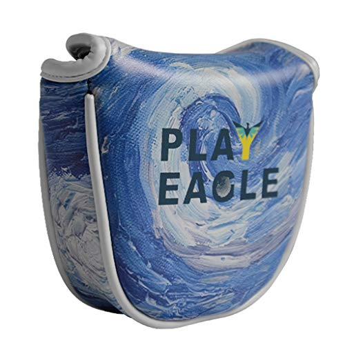 Toygogo Waterproof Golf Mallet Putter Headcover Head Cover Guards Starry Night Blue Blade Putter