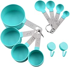 XGiGiX NEW Measuring Cups and Measuring Spoons Set of 8pcs, Stainless Steel Handle ,Nordic Green Cups,Included 2 pcs Kitch...