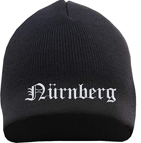 HB_Druck Nürnberg Beanie - Bestickt - Mütze Einheitsgröße Schwarz