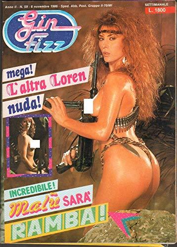 Gin Fizz Rivista erotica Anno 1986. 6 novembre n.59. Malu', Sacha Darvin, Vanna Ferre, Loredana Romito