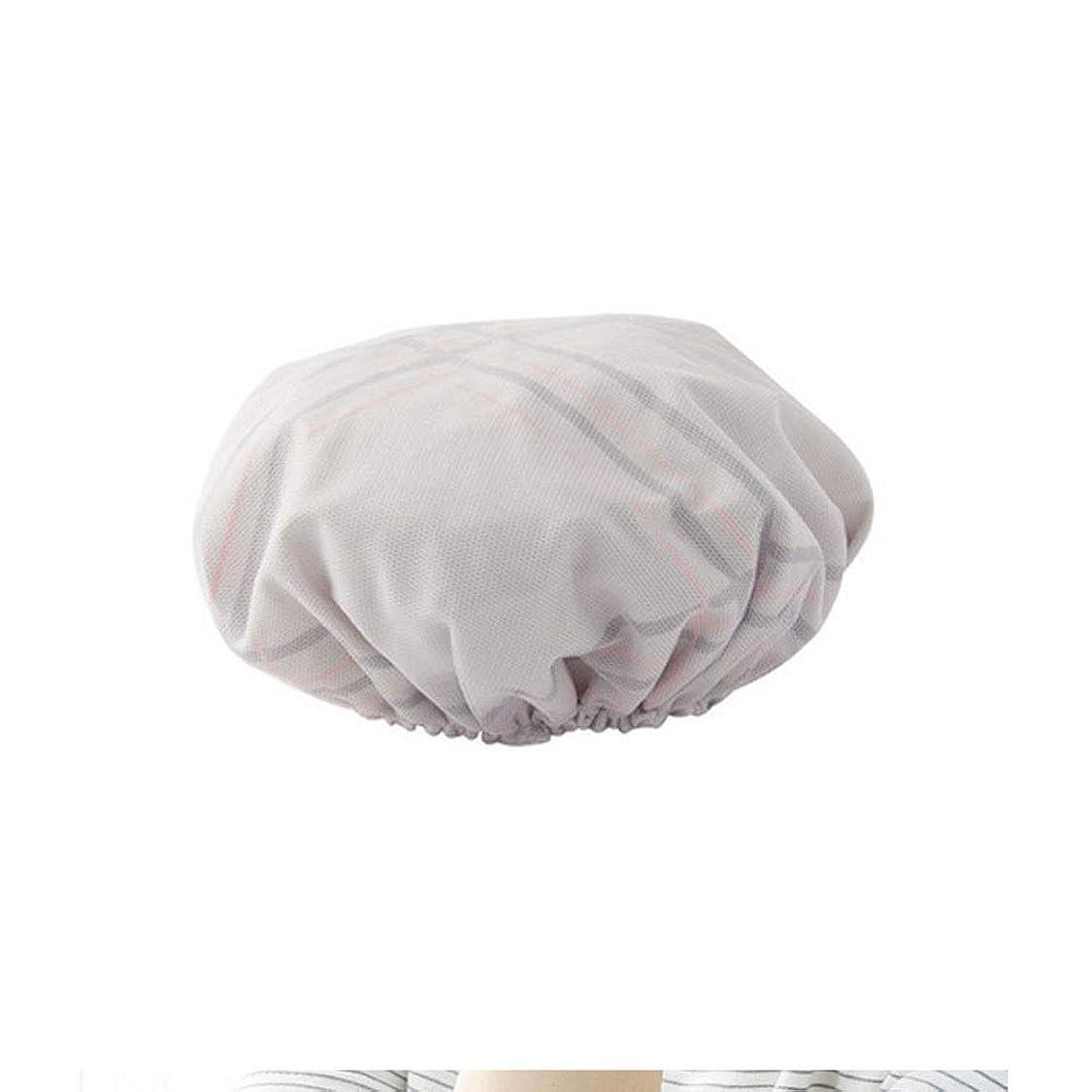 極地ワイヤー絶対にシャワーキャップ、レディースシャワーキャップレディース用のすべての髪の長さと太さのデラックスシャワーキャップ - 防水とカビ防止、再利用可能なシャワーキャップ。 (Color : Gray)