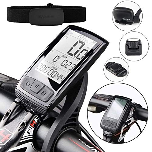 General Bicycle computer wirelessly, bike speedometer, with speed and cadence sensor, backlight, 2.5-inch large LED screen, waterproof Long AkkulaufzeitIPX5, is the best companion for cycling