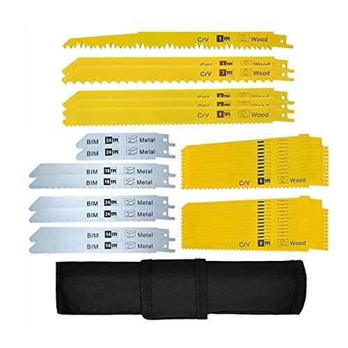Set di lame per sega universale 36 pezzi per legno, metallo, plastica, in CRV   HSS   BIM, lama universale Compatibile con seghetto alternativo