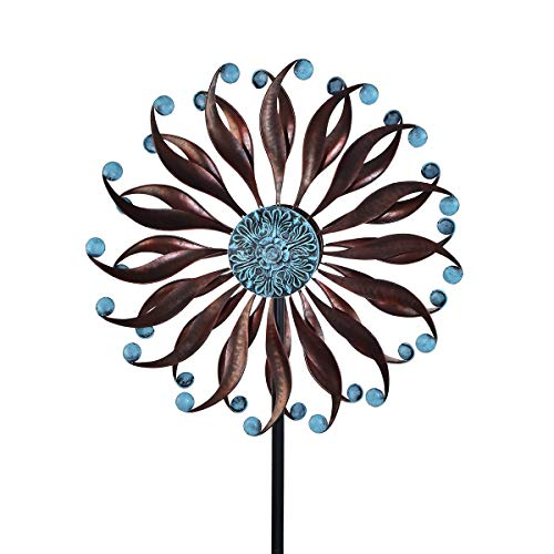 3D Kinetic Wind Spinners with Stable Stake Metal Garden Spinner with Reflective Painting Unique Lawn Ornament Wind Mill for Outdoor Yard Lawn Garden Decorations …