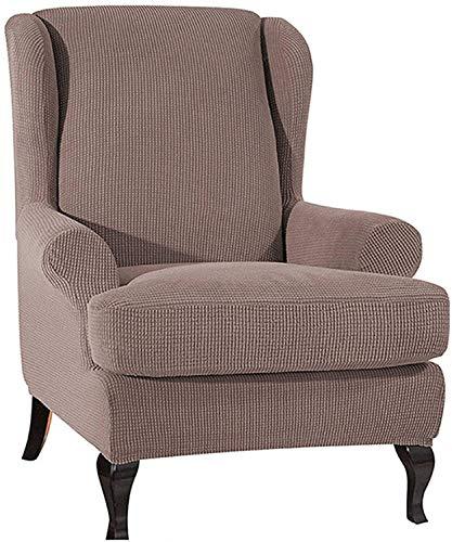 WHHK Cubiertas de Silla de alas de Estiramiento súper Suave Silla de Silla con Toque de Muebles Protector Antideslizante espesante sillón sillón