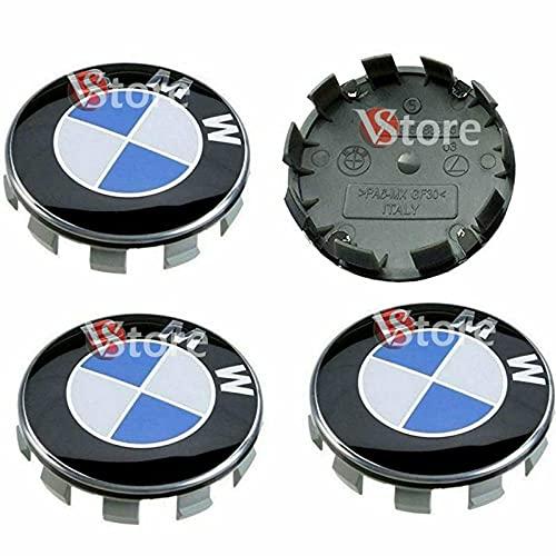 4 Tappi Coprimozzo Compatibili per BMW diametro 68mm Borchie Per cerchi Lega Logo