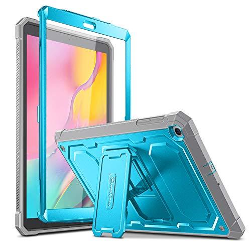 Fintie - Carcasa a prueba de golpes para Samsung Galaxy Tab A 10.1 2019 modelo SM-T510 / T515 / T517, resistente carcasa híbrida de protección completa con protector de visualización integrado, Azul