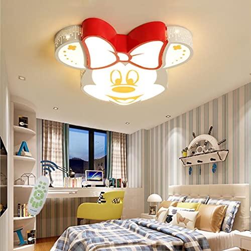 WJCJ Lámpara De Techo LED para Habitación De Niños Luz con Control Remoto Lámpara De Techo Minnie De Metal Acrílico Regulable Niño Niña Jardín De Infantes Dormitorio Sala De Estudio Iluminación