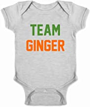 Pop Threads Team Ginger Funny St. Patrick's Day Funny Cute Redhead Infant Baby Boy Girl Bodysuit