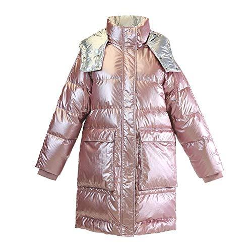 DRT glanzend met capuchon wintermantel mode donsjack voor dames