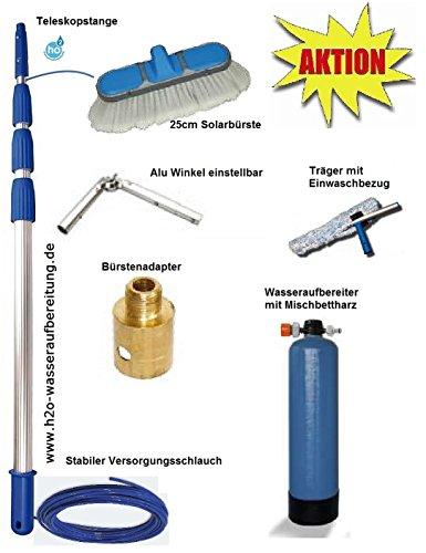 Solar PV Glas Reinigungsset Solarreinigung 8m Wasserführende Teleskopstange Wasserteleskopstange VE Ionenaustauscher