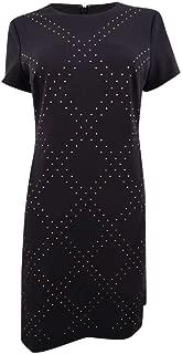 Womens Embellished Cap Sleeves Sheath Dress