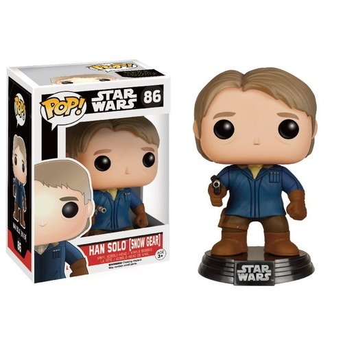Funko 021982 Pop Star Wars: Episode 7 Han Solo Snow Gear 86 Bobble-Head Figure