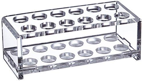 neoLab 1-5102 Acryl-Reagenzglasgestell, 2 x 6 Gläser Durchmesser 18 mm, 57 mm hoch